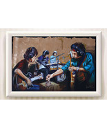 """Abstract Art Oil Painting Print on Canvas""""Rock band""""Home Decor No Frame - $16.82+"""