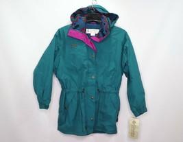 Vintage 90s New Columbia Womens Small Saginaw Parka Winter Jacket Fleece Lined - $134.59