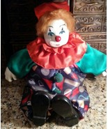 Collectible Limited Edition Collector's Choice Porcelain Clown Doll ? LARGE - $24.75
