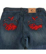 Apple Bottoms Jeans by Nelly Embellished Mid Rise Tapered Leg Womens 10 ... - $39.45