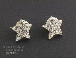 Eisenberg Ice Pair of Small Star Shape Tie Tack Pins (Inventory #J1226) - $31.51 CAD