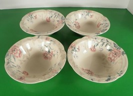 Johnson Brothers LYNTON Rim Cereal Bowl (s) LOT OF 4 England Pink Blue Flowers - $28.66