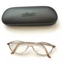 Silhouette Gold & Clear Full-Rim RX Eyeglass Frames 55-13-135 Case - $29.65