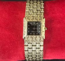 Designer Rare Mint Art deco Quartz Bueche Girod 14k Yellow gold Ladies Watch - $2,199.99
