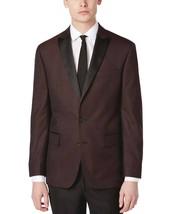 $295 Ryan Seacrest Distinction Modern-Fit Burgundy Brocade Dinner Jacket, 42R - $138.59