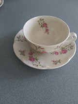Beautiful Theodore Haviland New York Delaware Rose Cup And Saucer Vintage - $8.99