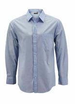 Men's Cotton Long Sleeve Classic Collared Plaid Button Up Dress Shirt - M image 1