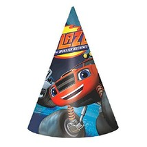 Blaze and the Monster Machines Paper Cone Hats, Party Favor - $16.68