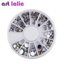 ArtLalic® 5 Sizes White AB Multicolor Acrylic Nail Art Decoration Glitter - $2.25
