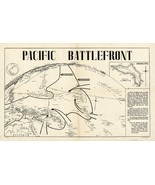 """16""""x25"""" Pictorial 1944 Map Pacific Battlefront Kwajalein Atoll WWII Wall Poster - £11.88 GBP"""