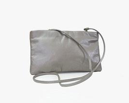 Silver Gray Shoulder Bag Clutch  - $28.00