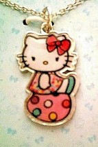 """Hello Kitty Silvertone Pendant Necklace with 16"""" Chain + 2"""" Extension - $11.97"""