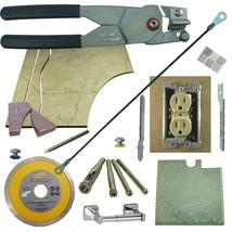 Tile & Glass Cutter Kit BLK LH Curve Outlet Jigsaw Rodsaw Grinder Blade 5 Drills - $73.87