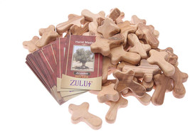 Zuluf 50 Small Olive Wood Hand Crosses Bethlehem Factory - CRS098 - $123.70