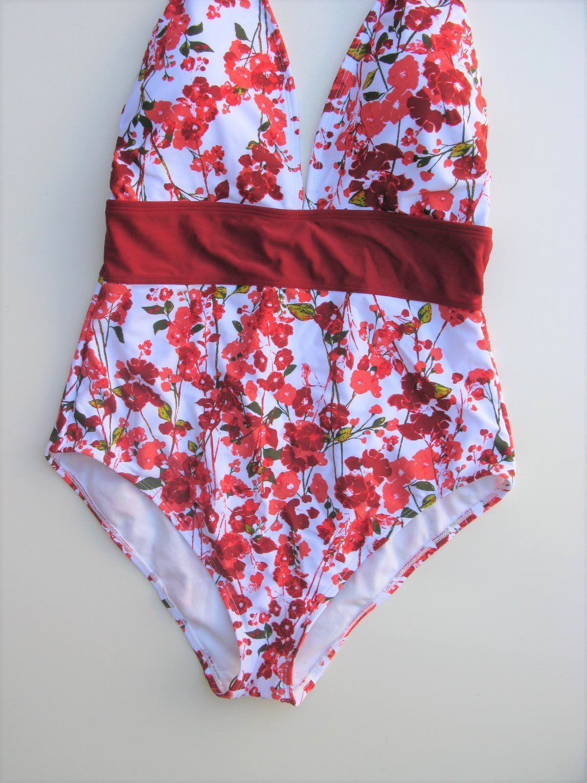 One Piece Bathing Suit Adore Me Heidie Floral Print One Piece Swimsuit M NWT $50