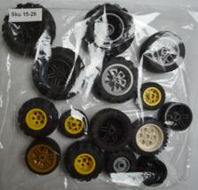 Lego Random Pieces of Used Lego Parts, Bulk Lego Lot, Mis-match Wheels,S... - $16.99