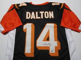 ANDY DALTON / AUTOGRAPHED CINCINNATI BENGALS CUSTOM FOOTBALL JERSEY / DALTON COA image 1