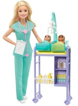 ​Barbie Baby Doctor Playset with Doll 2 Infant Dolls, Exam Table and Acc... - $24.99