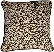 Pillow Decor - Ocelot Print Cotton Small Throw Pillow - $19.95