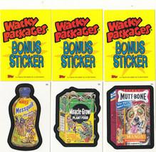 2006 Wacky Packages All New Series 3 (ANS3) **Three Bonus Stickers** B4,B5,B6 - $3.99