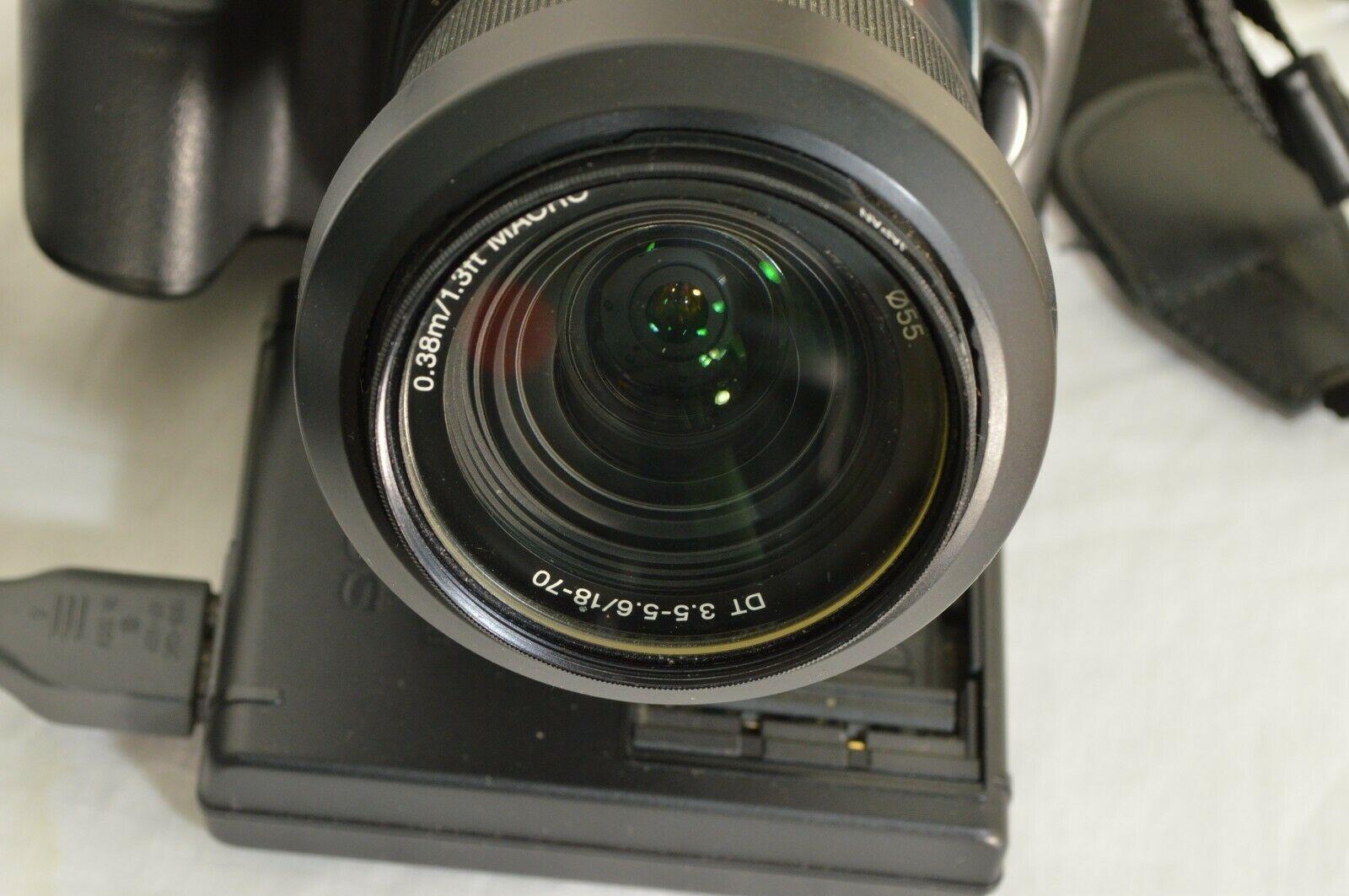 Sony Alpha a100 10.2MP Digital SLR Camera - Black (Kit w/ DT 18-70mm Lens) image 7