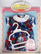 Cititoy Baby Doll Dress Red with Blue Flowers a... - $18.80