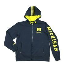 Adidas Michigan Reißverschluss Hoodie Langarm Genäht auf Spellout Größe M - $33.62