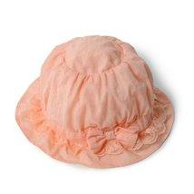 Baby Girl Sun Protection Hat Infant Floppy Cap Toddler Sun Hat Orange 52CM