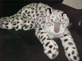 """24"""" Rare Folkmanis Snow Leopard Hand Puppet Plush Stuffed Toy With Tags Rare - $197.99"""