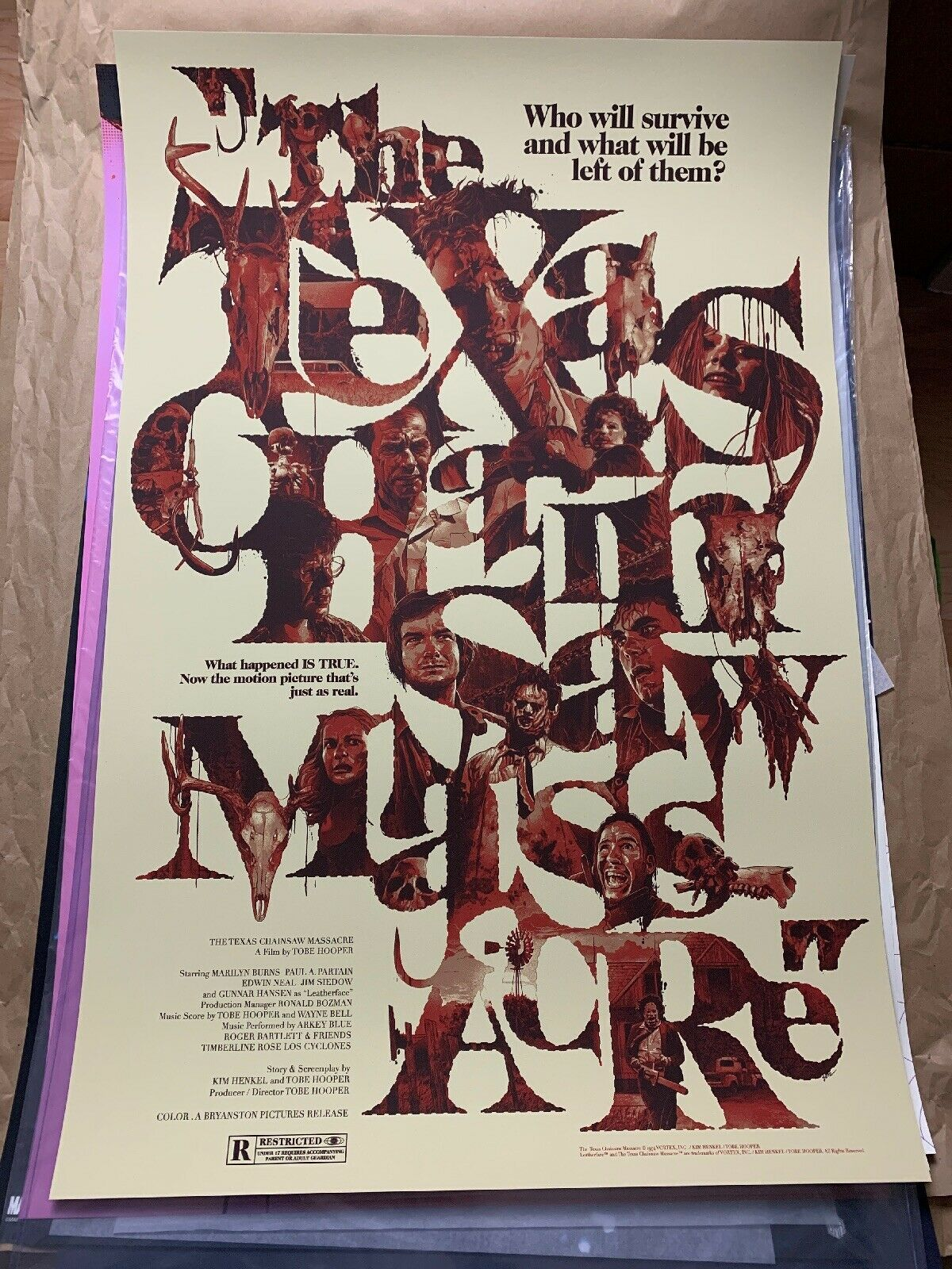 Primary image for Texas Chainsaw Massacre PROMO SAMPLE 24x36 Print Poster Gabz Grey Matter Art 1/1