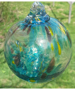 "Hanging Glass Ball 4"" Diameter ""Tropical Tree"" Witch Ball (1) GB5 - $16.83"