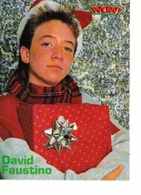 David Faustino Fred Savage teen magazine pinup clipping holding a bear 90's Bop