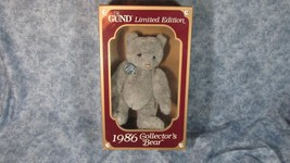 GUND Limited Edition 1986 Grey Collector's Bear Unused in Box - $13.09