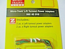 Micro-Trains Micro-Track # 99040916 L/R Turnout Power Adapters 2 Ea Z-Scale image 2