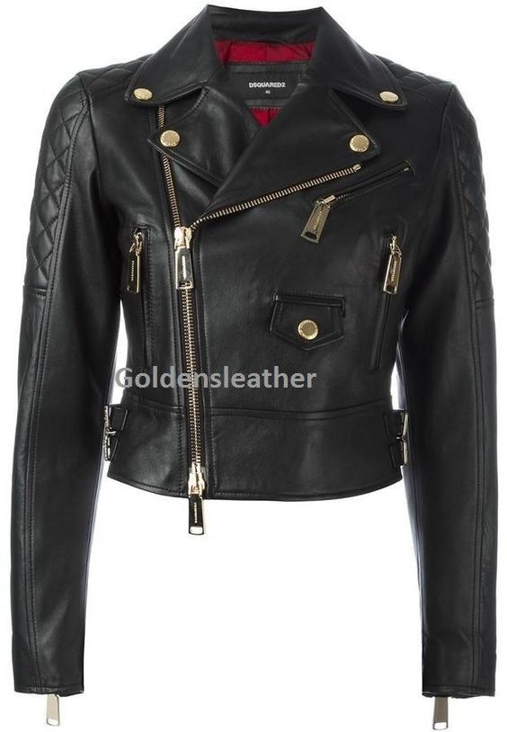 WOMEN BIKER MOTORCYCLE CASUAL SLIM FIT RIDER REAL GENUINE  LEATHER JACKET-AU-101
