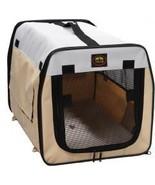 Folding Zippered Lightweight Easy Folding Pet Crate - Khaki - $45.99+