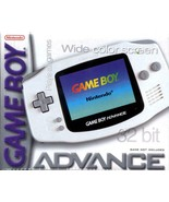 Nintendo Gameboy Advance Arctic White Great Condition Fast Shipping - $89.93