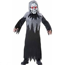 NEW Glowing Reaper Costume Halloween Childrens Boys Size Small 6 OR Medi... - $15.95