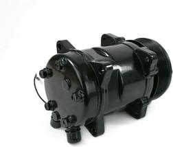 A-Team Performance Sanden 508 Style Clutch Serpentine A/C Compressor Black image 2
