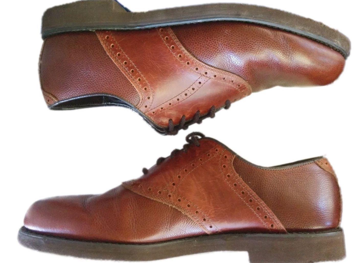 DEXTER USA Brown Saddle Shoes Oxfords Men's Rubber Sole Leather 12 Medium