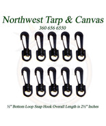 """Snap Hook, Acetal Plastic, Black, ½"""" Inch Slot - Shipped from The USA - $4.79"""