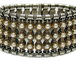 02006019 gerochristo 6019 silver gold pearls medieval bracelet 1 thumb155 crop