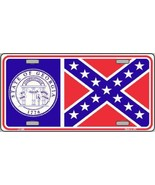 Georgia State Flag  Tag Sign License Plate - $18.99