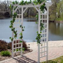 Trellis Arch 7-ft Pergola Arbor Gazebo Garden Patio Backyard White New - $188.88