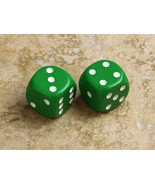 Basic 16mm Six-sided Die (Green with white pips) - $0.55