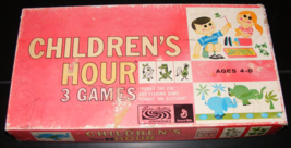 RARE 1961 Children's Hour 3 Games by Parker Brother - $55.00