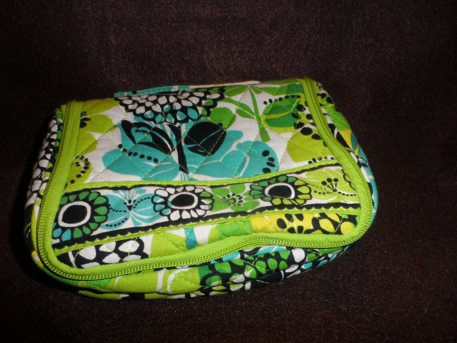 Primary image for Vera Bradley Limes Up Mini Hanging Organizer Jewelry/ Make-up  EUC