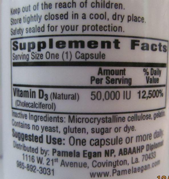 Vitamin D3 - 50,000 IU (12 Capsules)