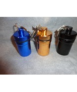 SET OF 3 CANISTERS KEYCHAINS PILL HOLDER STASH CANISTER - $9.89