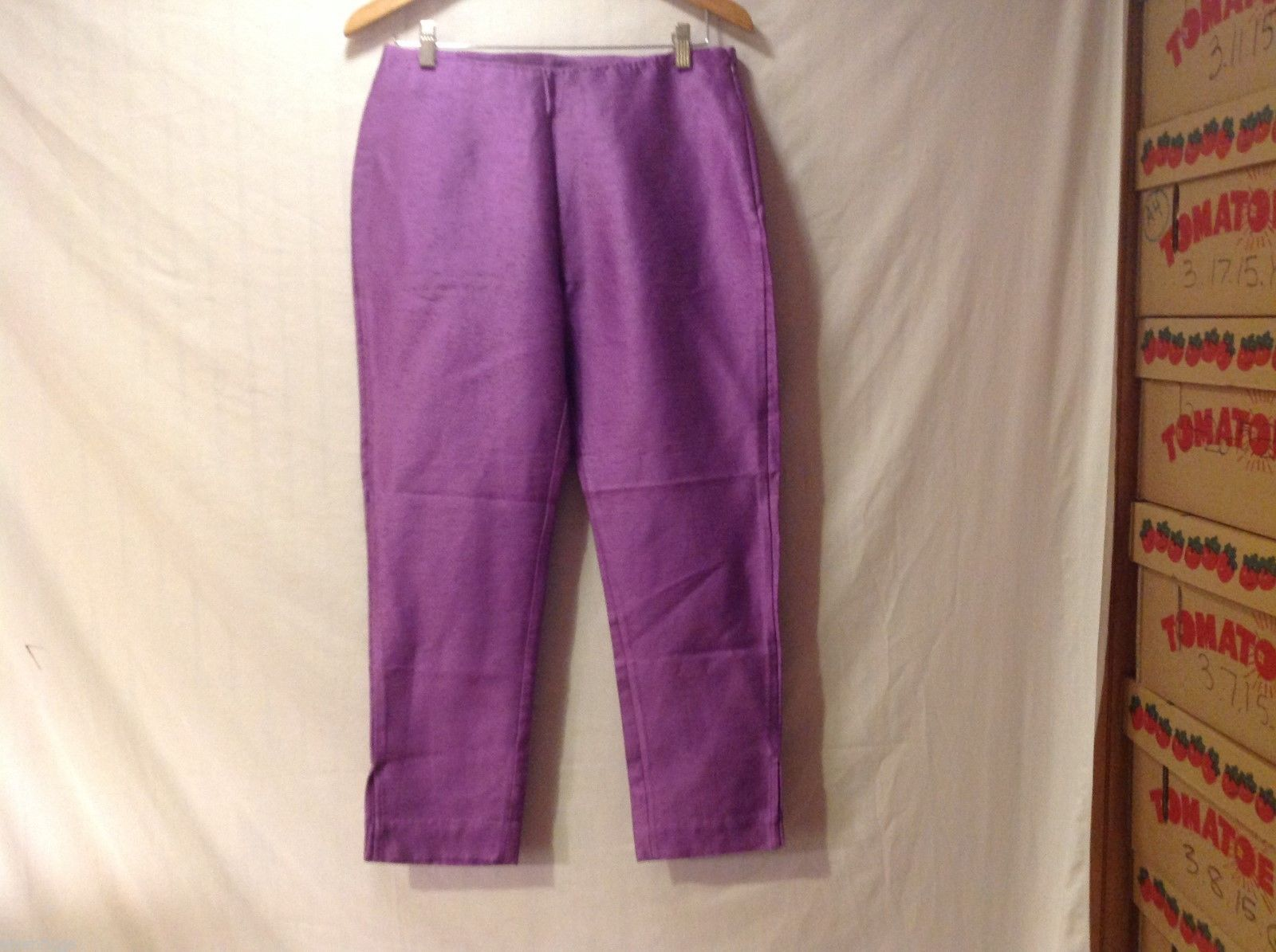 Womens Purple Shimmery Pants, Size unkown, see measurments